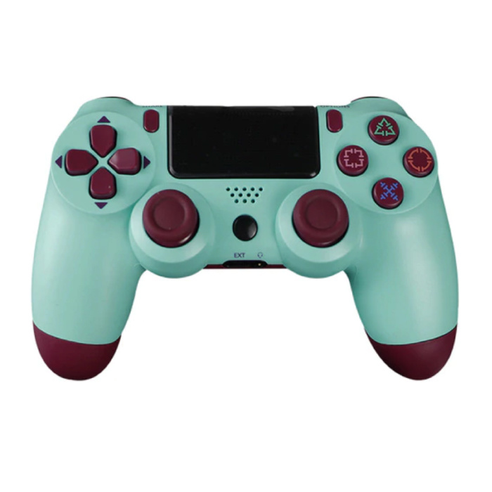 Manette de jeu pour PlayStation 4 - Manette de jeu Bluetooth PS4 avec vibration verte