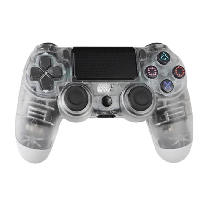 Gaming Controller für PlayStation 4 - PS4 Bluetooth Gamepad mit Vibration Transparent