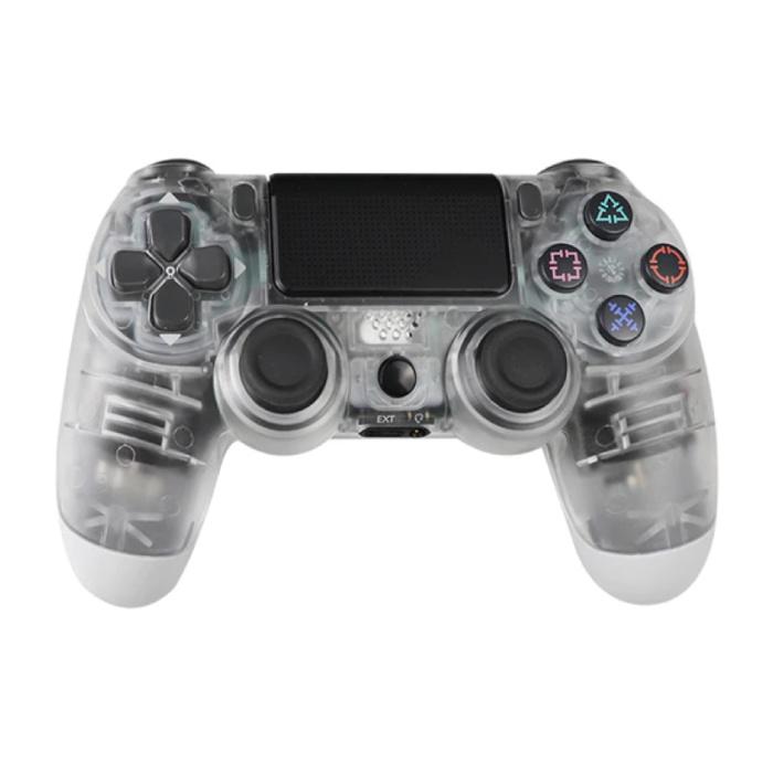 Manette de jeu pour PlayStation 4 - Manette de jeu Bluetooth PS4 avec vibration transparente