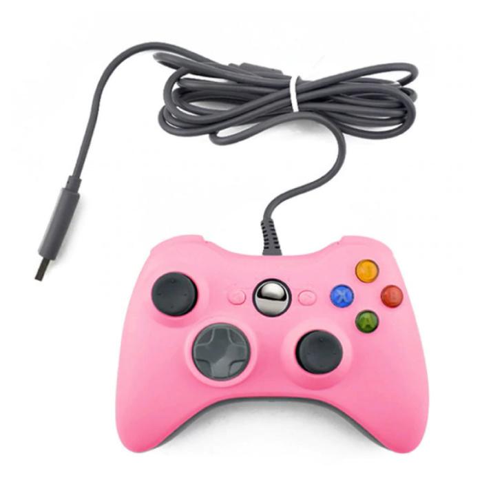 Manette de jeu pour Xbox 360 / PC - Gamepad avec Vibration Pink