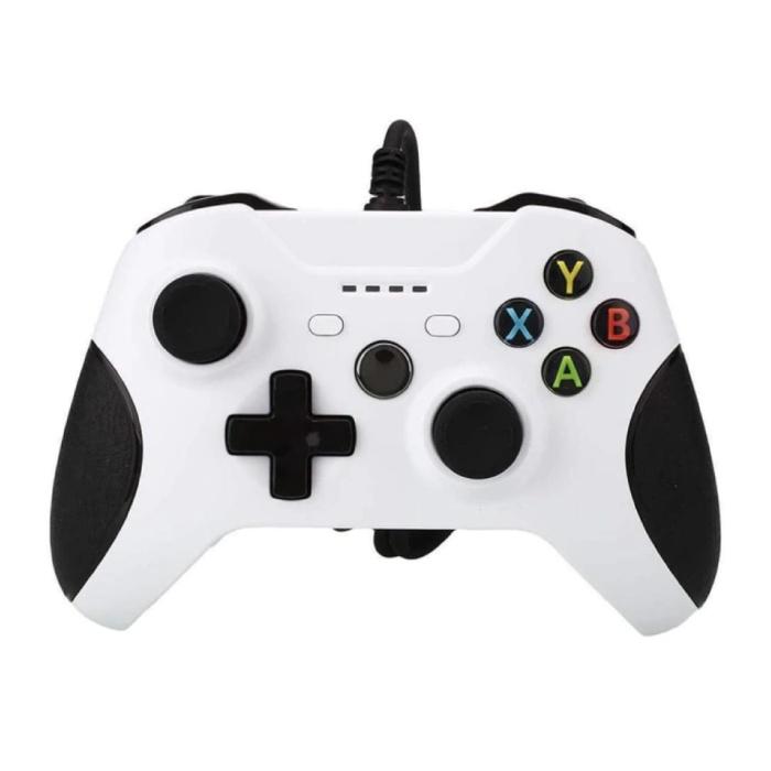 Manette de jeu pour Xbox One / PC - Manette de jeu avec vibration blanche