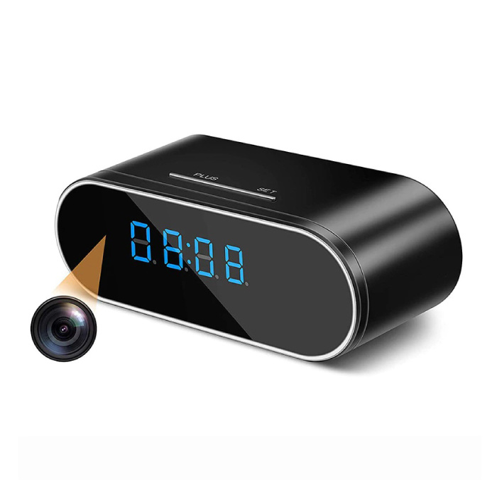 Alarm Clock with Camera and WiFi - Wireless Smart Home Security Night Vision
