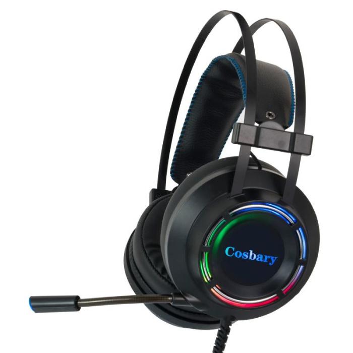 Casque de jeu Écouteurs stéréo Écouteurs à son surround 7.1 avec microphone pour PlayStation 4 / PC