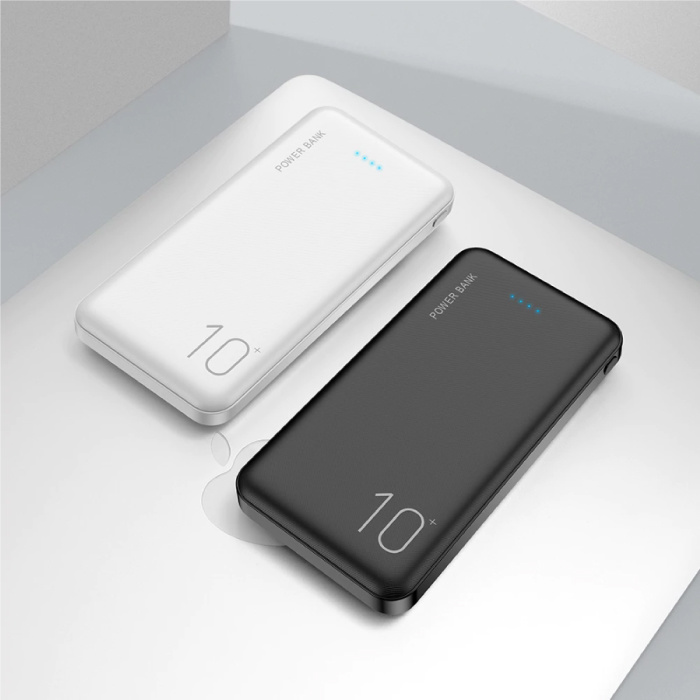 FLOVEME Externe 10.000mAh Powerbank Noodaccu Oplader Charger Wit