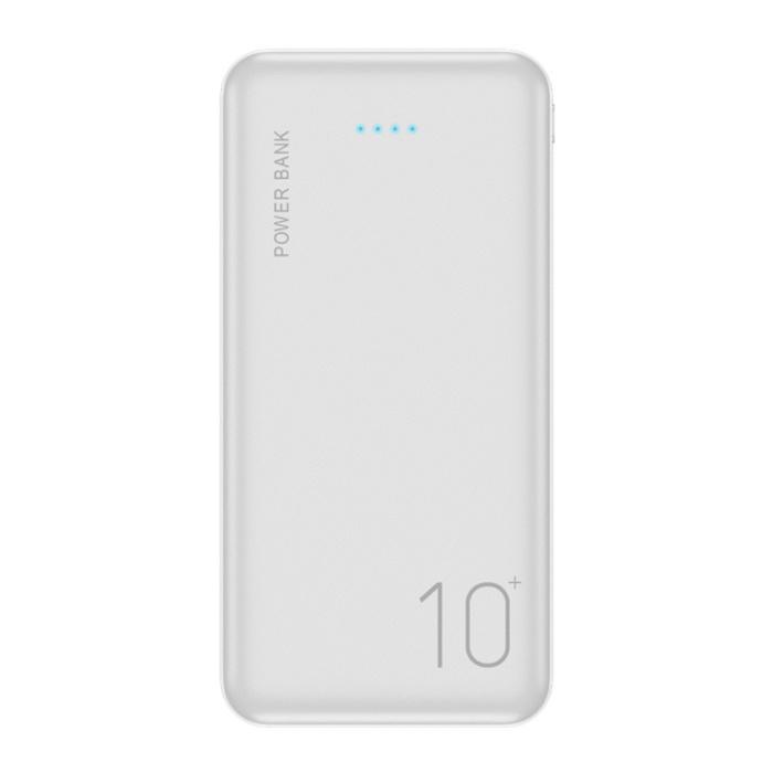 Batterie externe 10.000mAh Banque d'alimentation d'urgence Chargeur de blanc