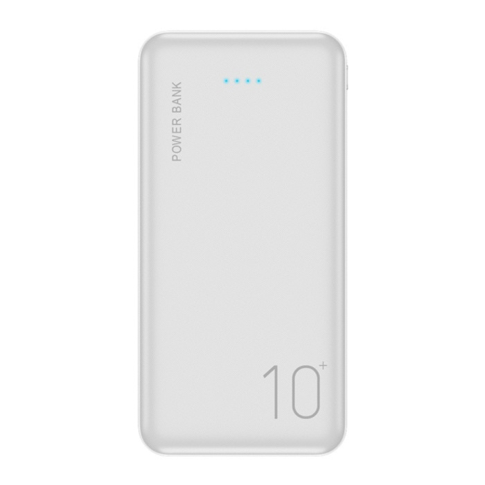 Externe 10.000mAh Powerbank Noodaccu Oplader Charger Wit