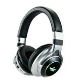 HANXI Draadloze Koptelefoon Bluetooth Wireless Headphones 3D Stereo Gaming Zilver