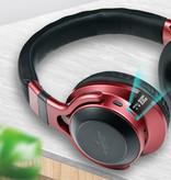 HANXI Sans fil Bluetooth casque sans fil Casque stéréo 3D Gaming Rouge