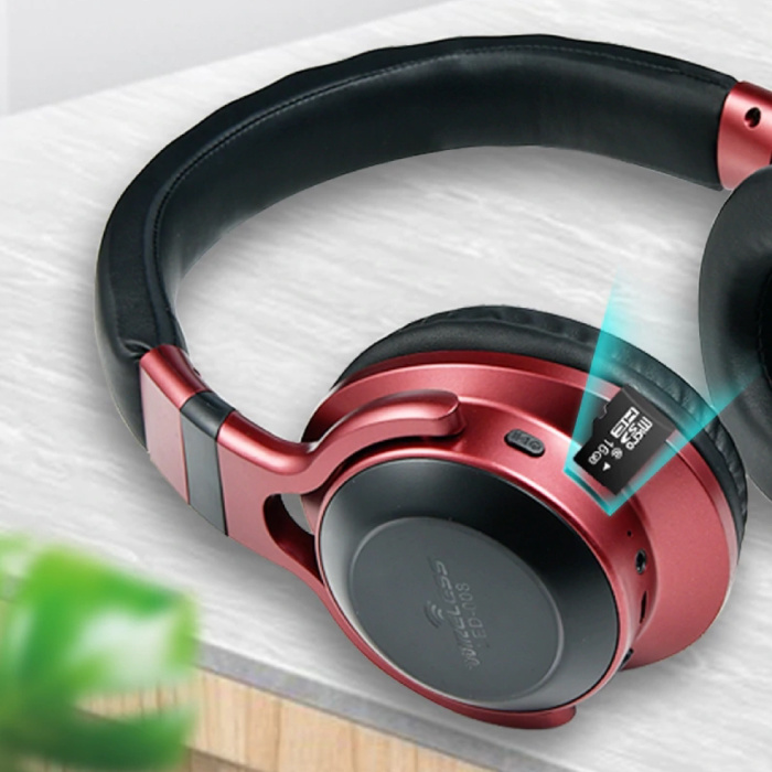 HANXI Sans fil Bluetooth casque sans fil Casque stéréo 3D Gaming Bleu