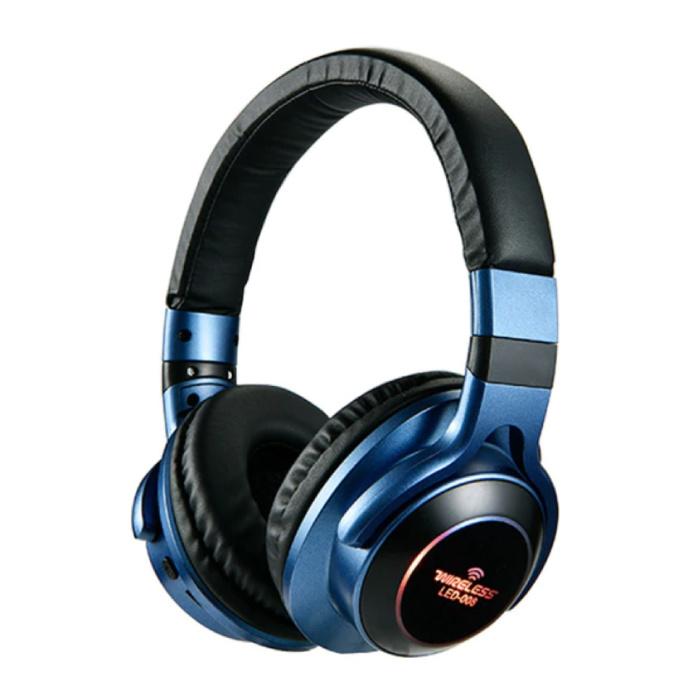 Draadloze Koptelefoon Bluetooth Wireless Headphones 3D Stereo Gaming Blauw