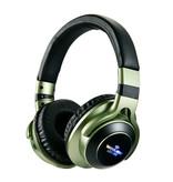 HANXI Draadloze Koptelefoon Bluetooth Wireless Headphones 3D Stereo Gaming Groen