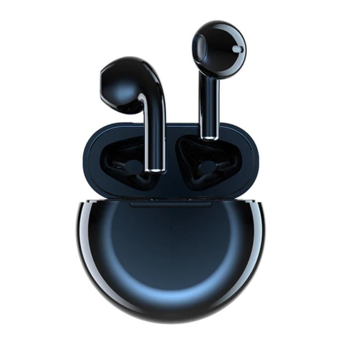 Air Buds 4 Draadloze Oortjes met Touch Control -  TWS Bluetooth 5.0 Wireless Pods Earphones Earbuds Zwart