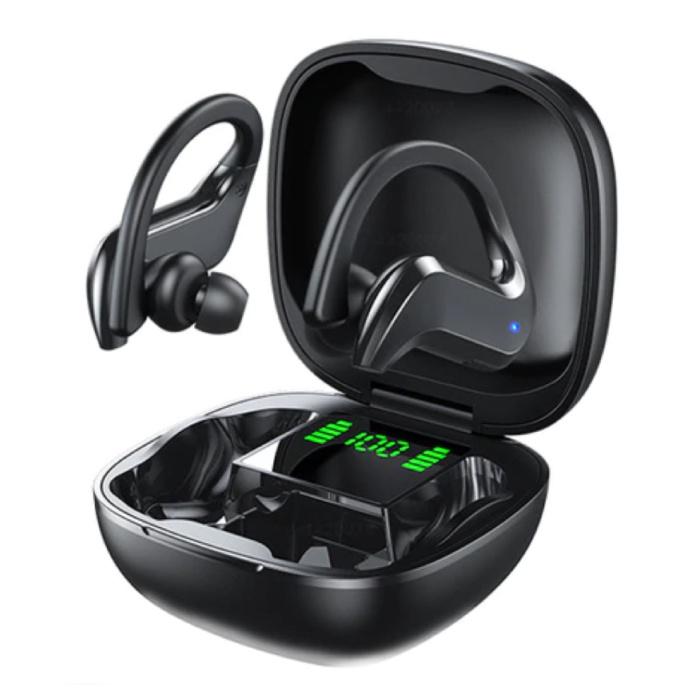 Bezprzewodowe słuchawki z zaczepem na ucho - Sterowanie dotykowe - TWS Słuchawki bezprzewodowe Bluetooth 5.0 Słuchawki douszne Czarne
