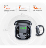 Stuff Certified®  Draadloze Oortjes met Oorhaak - Touch Control -  TWS Bluetooth 5.0 Wireless Buds Earphones Earbuds Oortelefoon Zwart