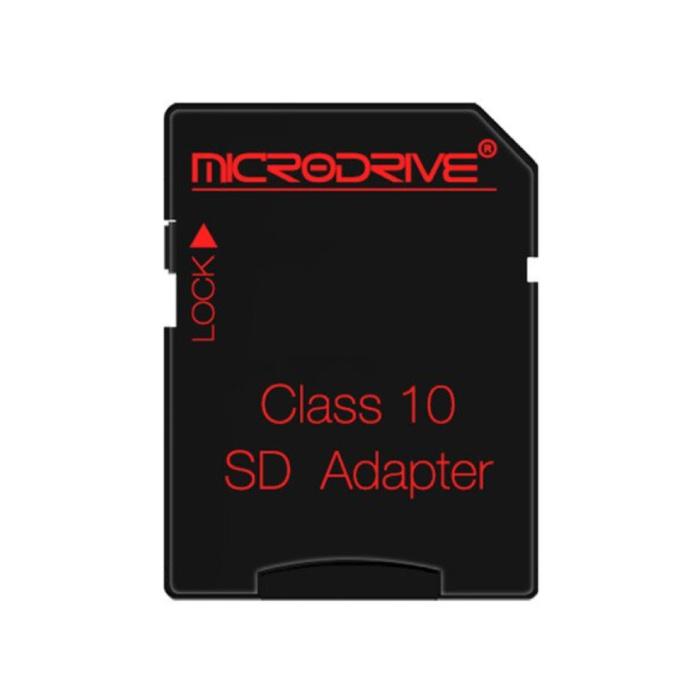 Microdrive Adaptateur de carte Micro-SD / TF Classe 10 - Support de carte mémoire pour carte mémoire