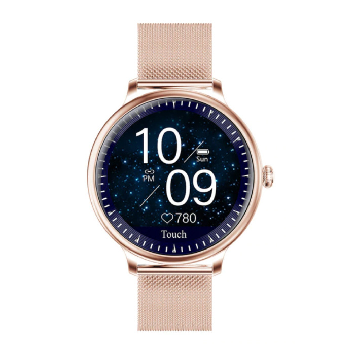 NY12 Luxus Smartwatch Uhr Fitness Activity Tracker iOS Android - Gold