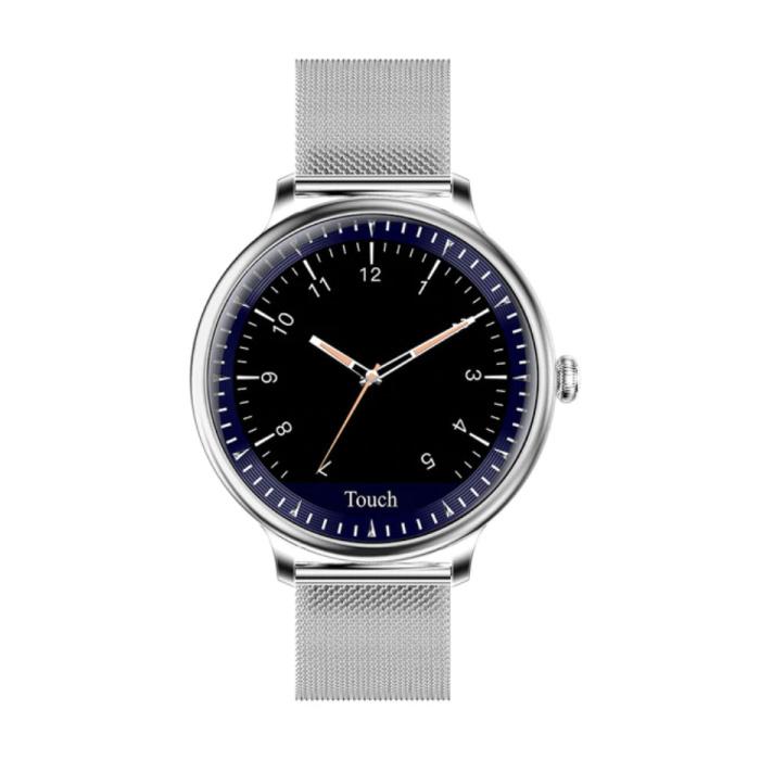 NY12 Montre Smartwatch de luxe Fitness Tracker d'activité iOS Android - Argent
