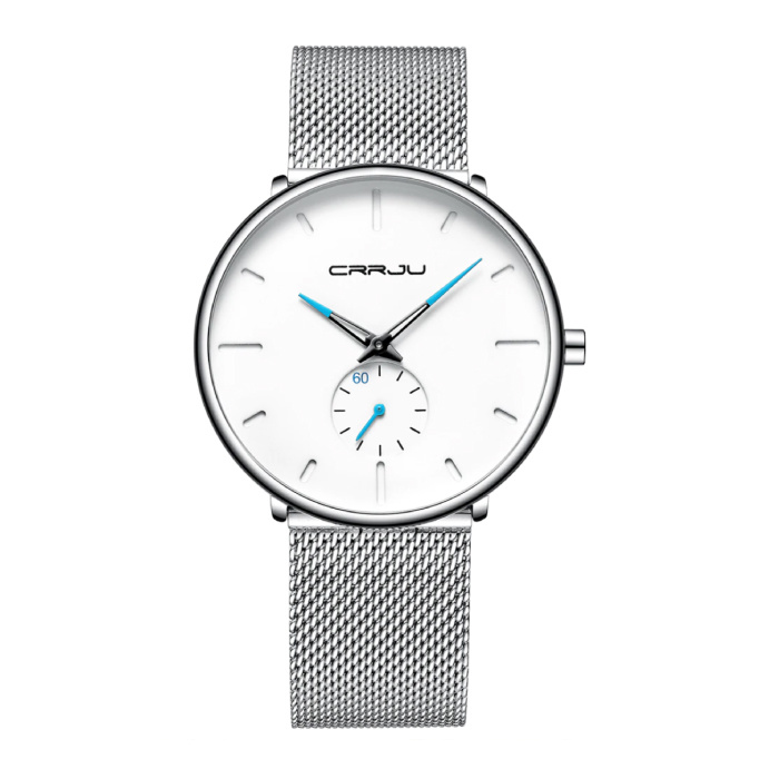 Quartz Watch - Anologue Luxury Movement for Men and Women - Stainless Steel - Silver