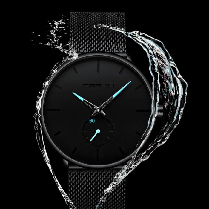 CRRJU Kwarts Horloge - Anoloog Luxe Uurwerk voor Mannen en Vrouwen  - Blauw