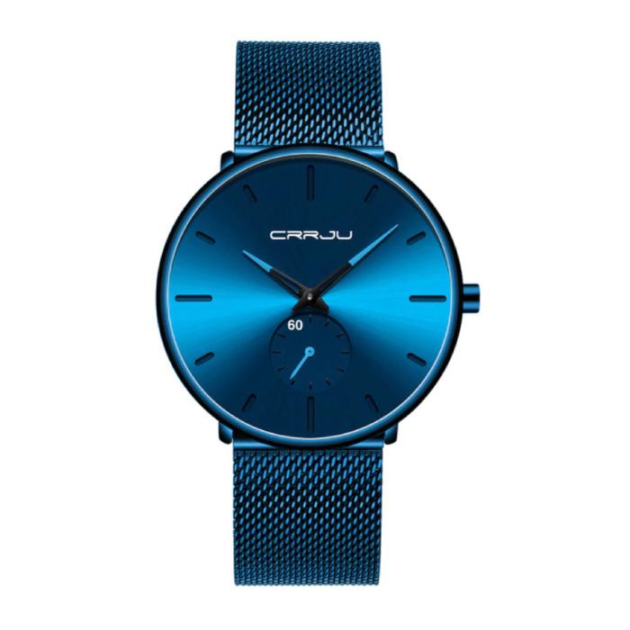 Kwarts Horloge - Anoloog Luxe Uurwerk voor Mannen en Vrouwen  - Blauw