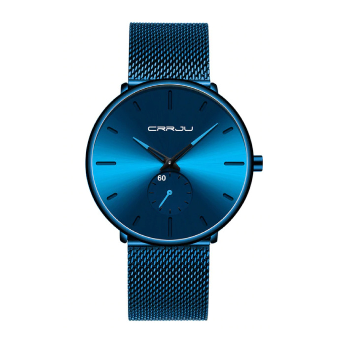 Quarzuhr - Anologue Luxuswerk für Männer und Frauen - Blau