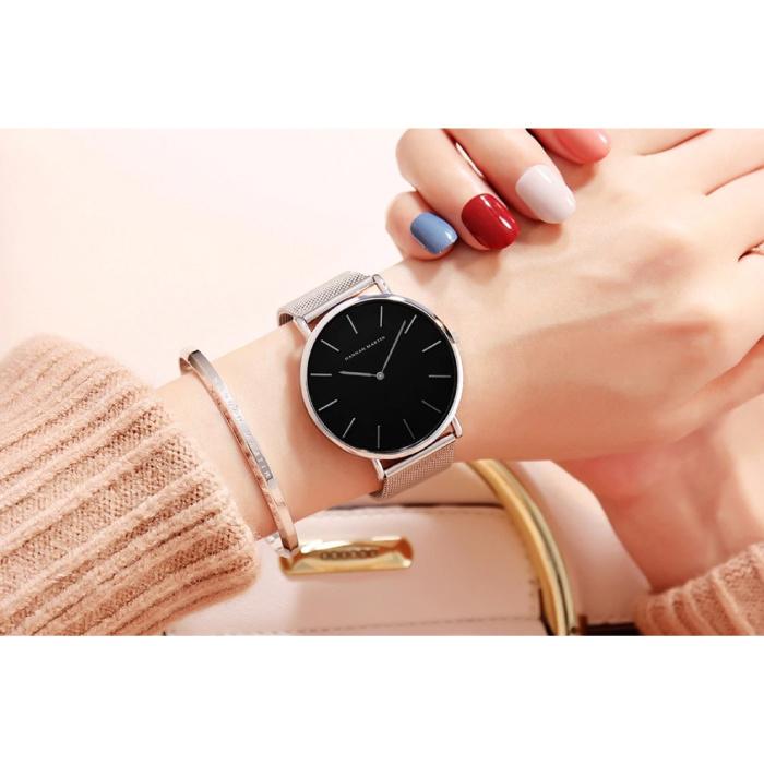 Hannah Martin Dames Horloge - Anoloog Uurwerk Mesh Bandje voor Vrouwen - CH36-WYY