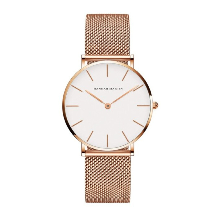 Dames Horloge - Anoloog Uurwerk Mesh Bandje voor Vrouwen - CH36-WFF