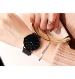 Hannah Martin Dames Horloge - Anoloog Uurwerk Mesh Bandje voor Vrouwen - CB36-WYY
