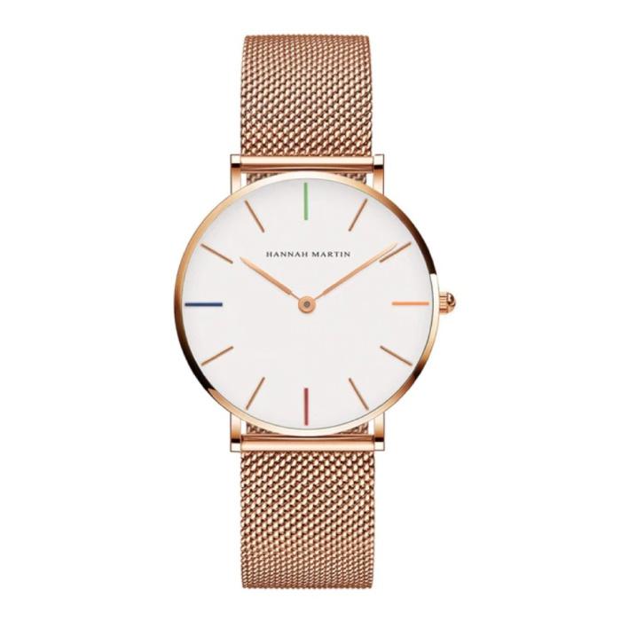 Dames Horloge - Anoloog Uurwerk Mesh Bandje voor Vrouwen - B36-WFF
