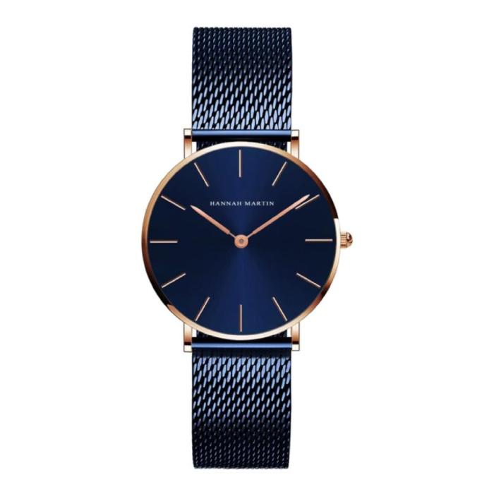 Dames Horloge - Anoloog Uurwerk Mesh Bandje voor Vrouwen - CL36-WFL