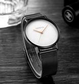 Geneva Luxe Dames Horloge - Anoloog Uurwerk Mesh Bandje voor Vrouwen