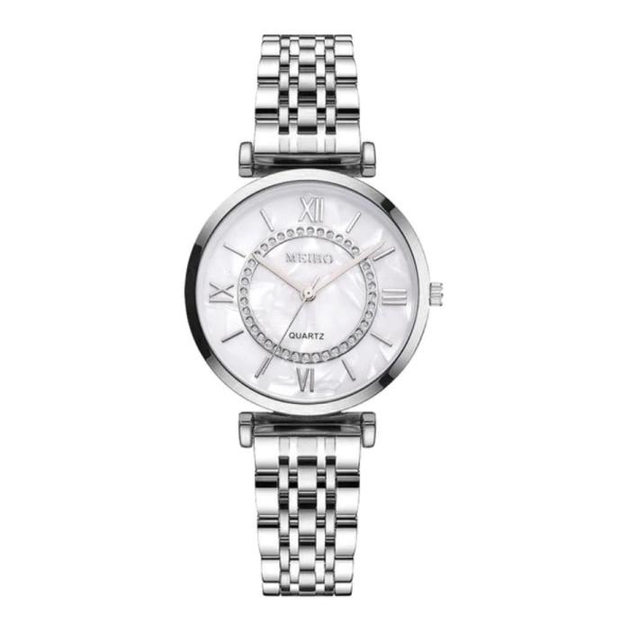 Dames Crystal Horloge - Anoloog Luxe Uurwerk voor Vrouwen