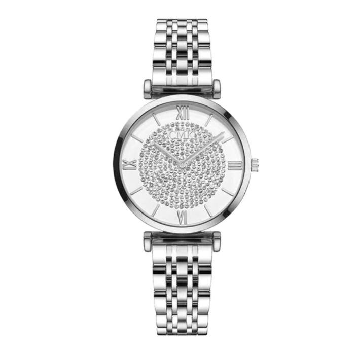Ladies Crystal Watch - Anologue Luxusuhr für Damen