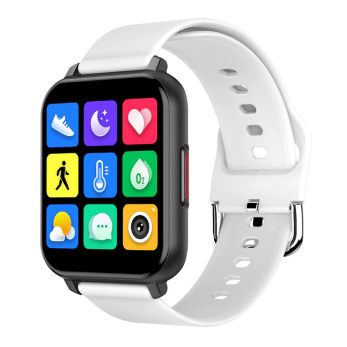 T82 Smartwatch Smartband Smartphone Fitness Sport Activité Tracker Montre IPS iOS Android iPhone Samsung Huawei Blanc