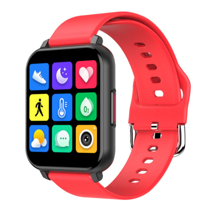 T82 Smartwatch Smartband Smartphone Fitness Sport Activité Tracker Montre IPS iOS Android iPhone Samsung Huawei Rouge