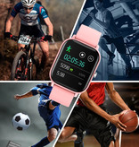 Lige 2020 Smartwatch Smartband Smartphone Fitness Sport Activité Tracker Montre IPS iOS Android iPhone Samsung Huawei Rose Or