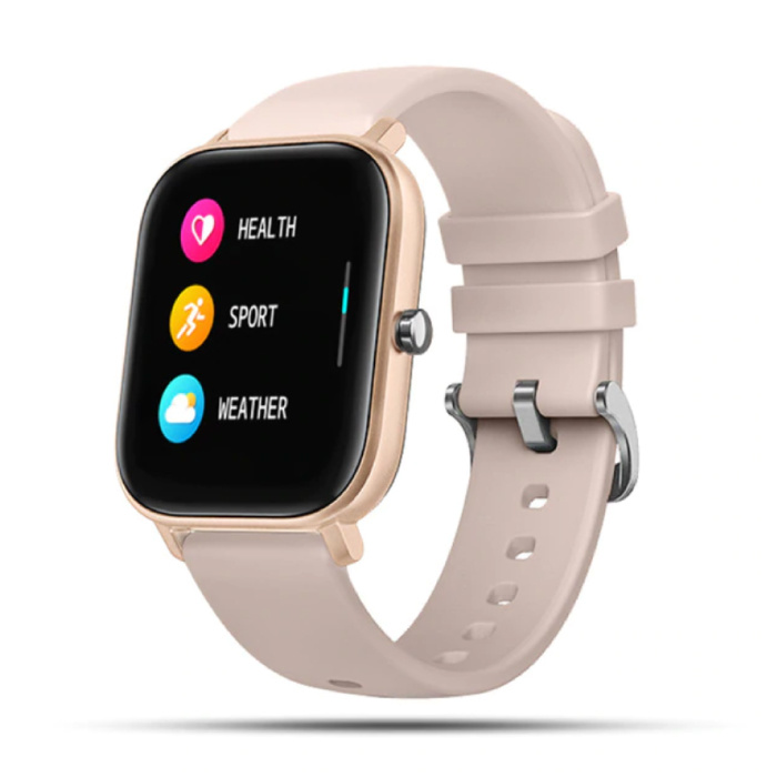 2020 Smartwatch Smartband Smartphone Fitness Sport Activity Tracker Horloge IPS iOS Android iPhone Samsung Huawei Roze Goud