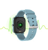 Lige 2020 Smartwatch Smartband Smartphone Fitness Sport Activité Tracker Montre IPS iOS Android iPhone Samsung Huawei Bleu