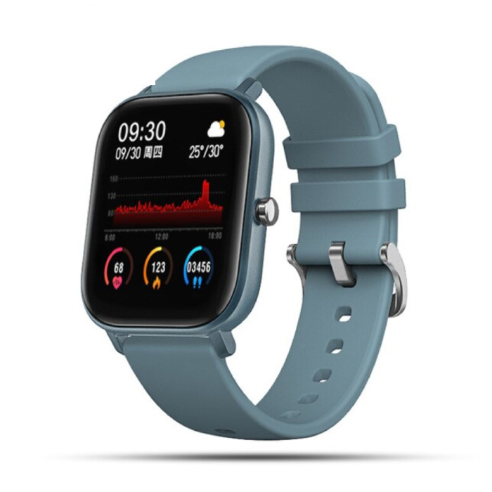 2020 Smartwatch Smartband Smartphone Fitness Sport Activity Tracker Horloge IPS iOS Android iPhone Samsung Huawei Blauw