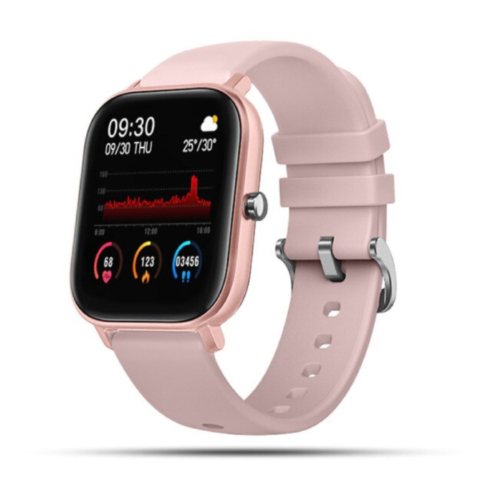 2020 Smartwatch Smartband Smartphone Fitness Sport Aktivität Tracker Uhr IPS iOS Android iPhone Samsung Huawei Pink