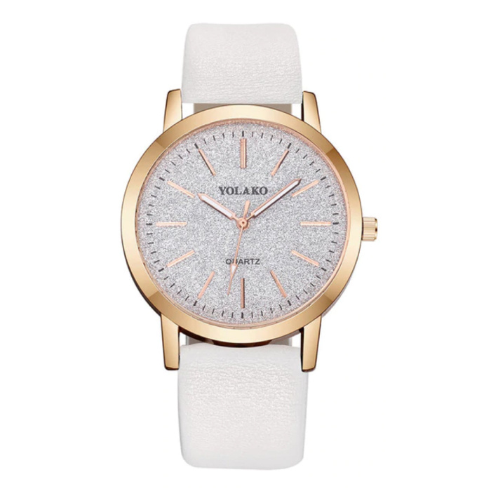Quartz Watch Ladies - Montre de luxe Anologue pour femme blanche