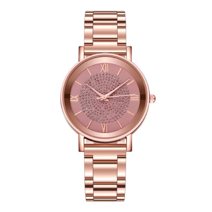 Watch Luxury Ladies - Anologue Quartz Movement for Women Red - Copy - Copy - Copy - Copy - Copy