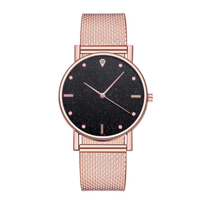 Horloge Kwarts Dames - Luxe Anoloog Uurwerk voor Vrouwen