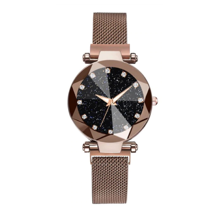Starry Night Watch Ladies - Luxury Anologue Quartz Movement for Women Brown