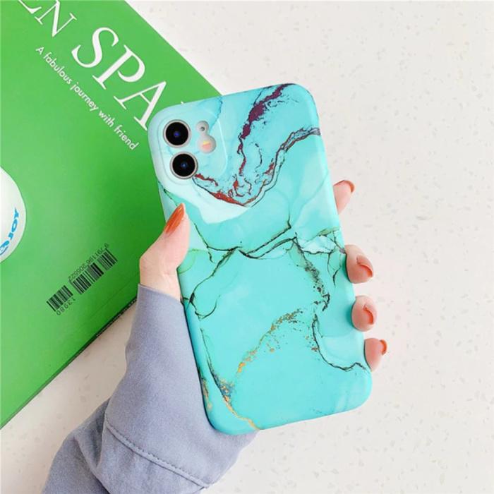 iPhone X Hülle Marmor Textur - Stoßfeste glänzende Hülle Granit Abdeckung Cas TPU