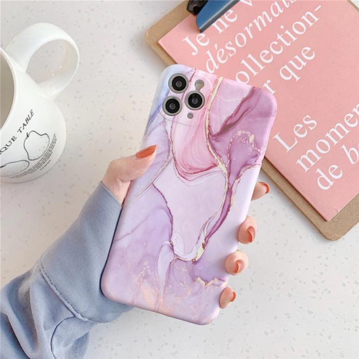 iPhone 11 Hülle Marmor Textur - Stoßfeste glänzende Hülle Granit Abdeckung Cas TPU