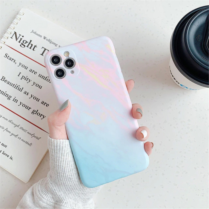 Coque iPhone 7 Marble Texture - Coque antichoc brillante Granite Cover Cas TPU