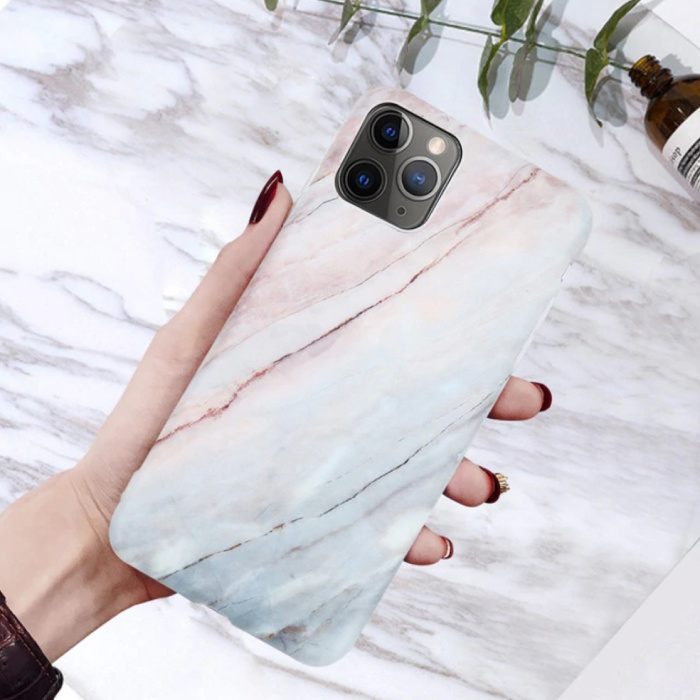 Coque iPhone X Marble Texture - Coque antichoc brillante Granite Cover Cas TPU