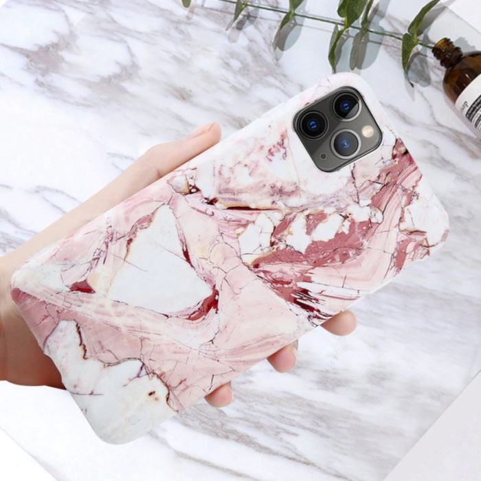 iPhone 6S Hoesje Marmer Textuur - Shockproof Glossy Case Graniet Cover Cas TPU