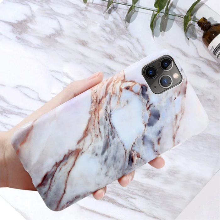 Coque iPhone 11 Pro Max Marble Texture - Coque antichoc brillante Granite Cover Cas TPU